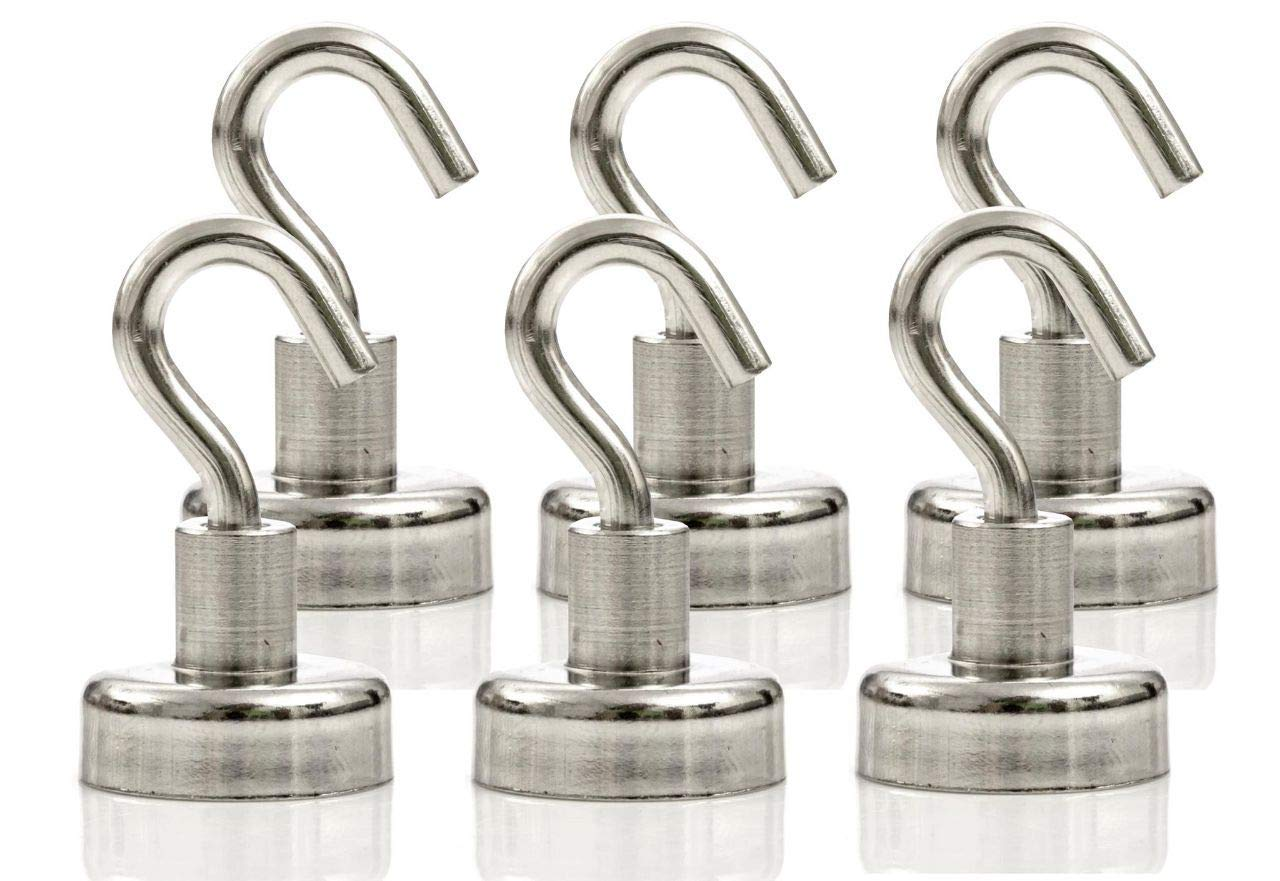 25lb Strong Magnetic Hanging Hooks 4 Pack