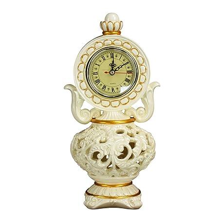 NNIU Reloj de Escritorio Retro Reloj de Mesa Decorativo Europeo ...