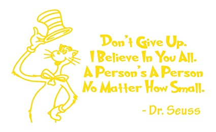 Amazon.com: BellaCross Unofficial Dr. Seuss Quote Decals is ...