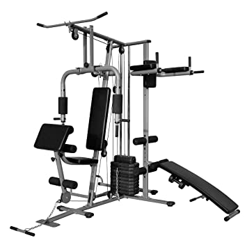 Vidaxl multi functional home gym all in one pull down bench press