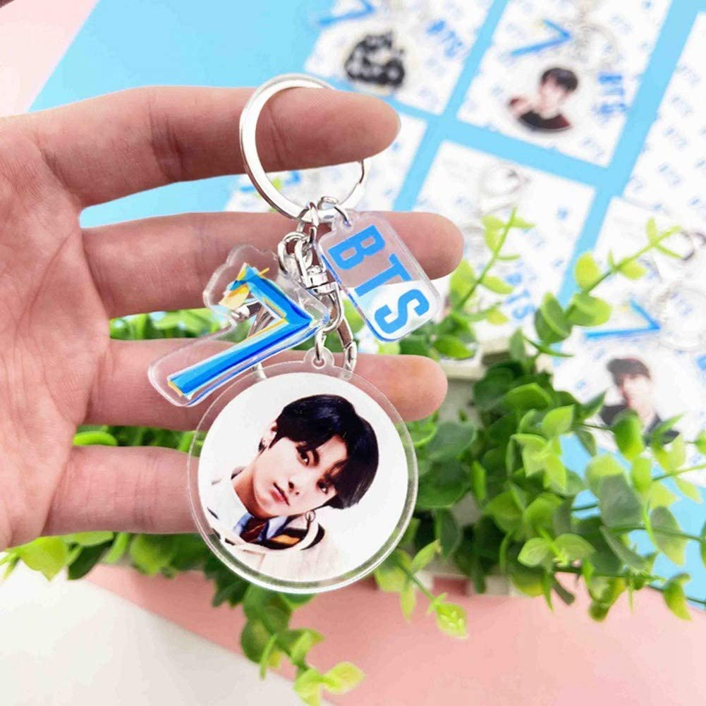 Map of The Soul 7 Keychain Keyring Sac Accessoire Bangtan Boys Pendentif Arme Fans Cadeau Suga-4 HughFan Kpop Porte-CLS Style 01