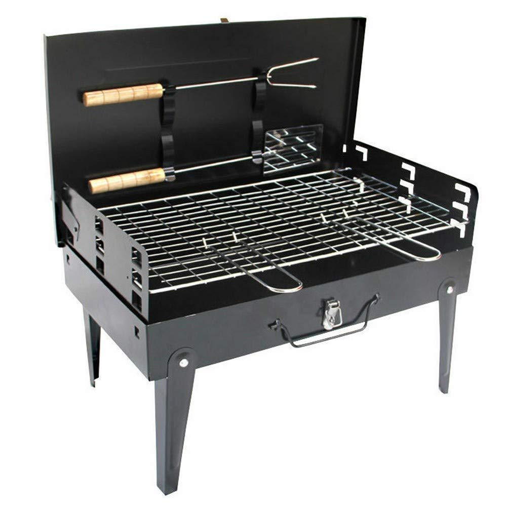 BHH-BBQ Charcoal Grill Cooking Tool Multi-Function Oven Portable Folding Family Friends Colleague Outdoor Camping Picnic Garden Fishing Garden