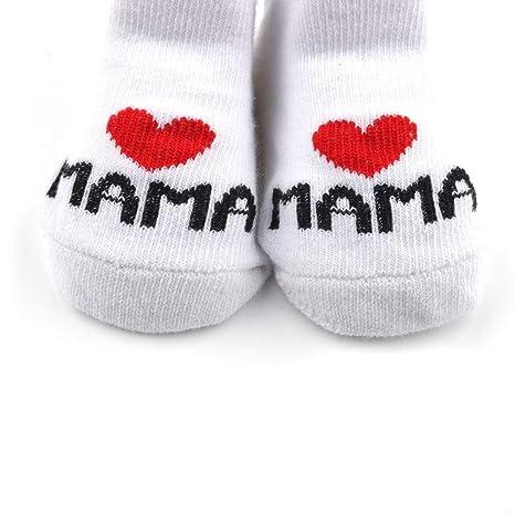 Distinct® calcetines de algodón de bebé I Love Mama + te amo ...
