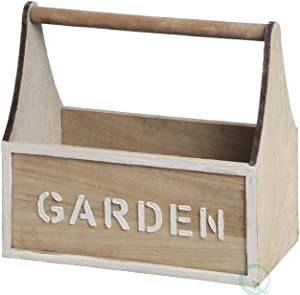 Gardenised Distressed Wood Garden Carry Planter