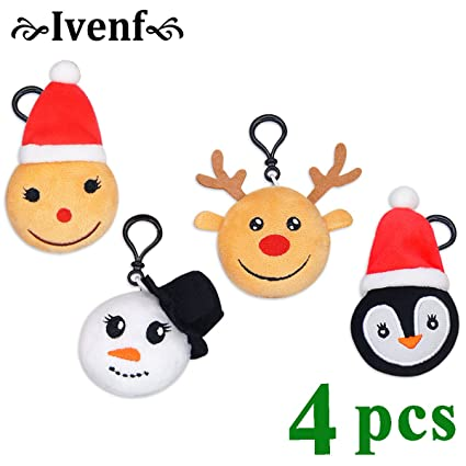 Ivenf 12 Unidades 6 1 10 2 Cm 3d Mini Medias De Navidad Papa Noel