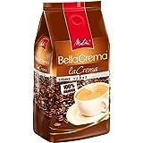 Melitta Ganze Kaffeebohnen, 100% Arabica, vollmundig und ausgewogen, mittlerer Röstgrad, Stärke 3, BellaCrema la Crema, 1000g