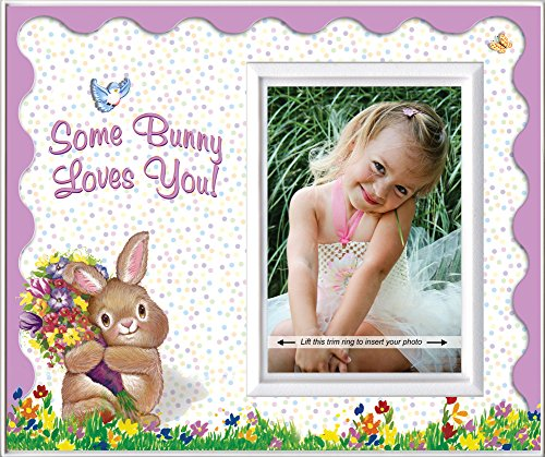 (Expressly Yours! Photo Expressions Somebunny Loves You! (Scalloped) - Easter Picture Frame Gift )