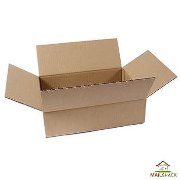 Paquete de 5 pared sencilla de embalaje cajas de cartón | sin montar y fuerte, color marrón 305 x 229 x 78: Amazon.es: Oficina y papelería