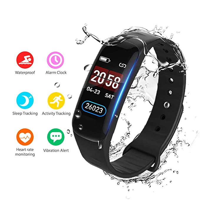 Amazon.com: OTOT Fitness Tracker, monitor de ritmo cardíaco ...
