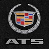 #4: Lloyd Mats - Ultimat Ebony 4PC Floor Mats For Cadillac ATS 2013-15 with Silver Cadillac Crest and ATS Lettering