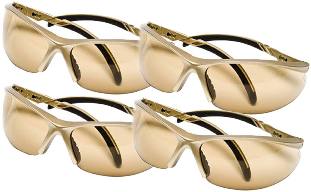 Safety Works Essential Adjustable Safety Glasses, Bronze Lenses (4 Bronze)