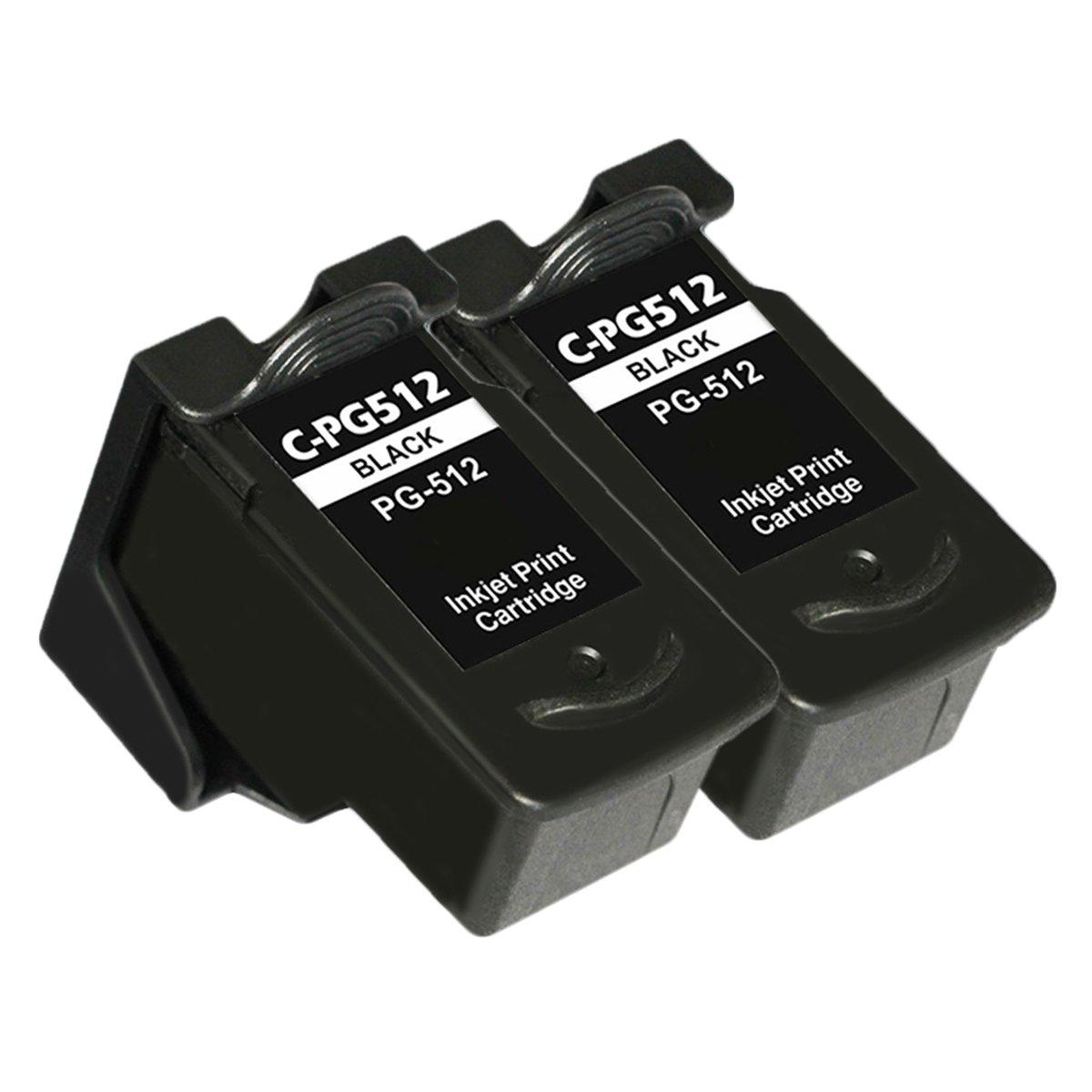 LCL PG512 PG-512 PG-512XL (2-Pack Negro) Cartuchos de Tinta ...
