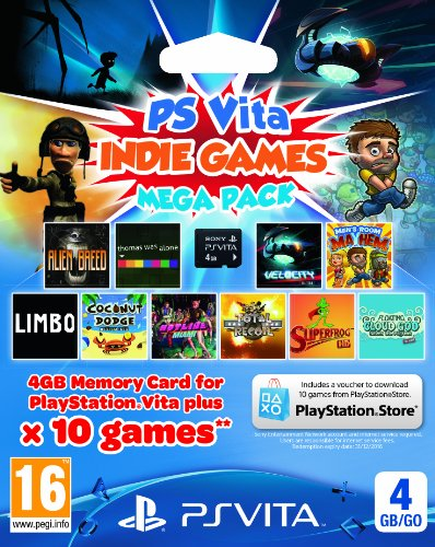 Sony Playstation PS Vita Memory Card 4GB with 10 Game Ind...