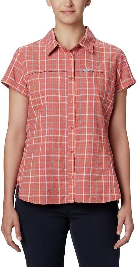 Columbia Silver Ridge Novelty Short Sleeve Shirt - Silver Ridge - Camiseta de Manga Corta Mujer: Amazon.es: Deportes y aire libre