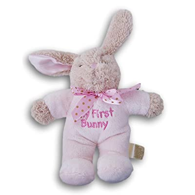 Stuffed Animals My First Easter Bunny Plush Super Soft - 10 Inches Tall (Pink): Toys & Games