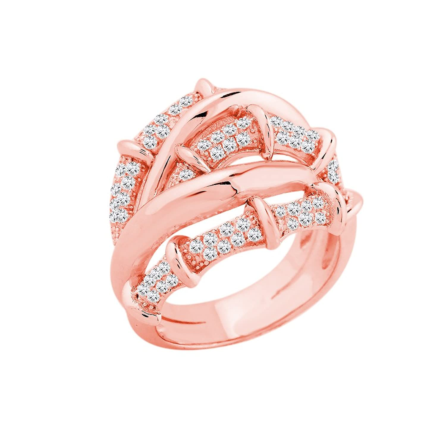Amazon.com: Evan Jewels, EV5-5034 Exquisite Crossover Band in ...