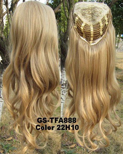 SIMUSTY 16colors 3/4 Half Wig,wig Stand Gift,Body Wave Wigs,Synthetic Hair Extensions 22H10