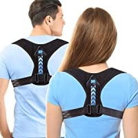 Updated 2020 Version Posture Corrector For Men And Women- Adjustable Upper Back Brace For Clavicle Support and Providing…