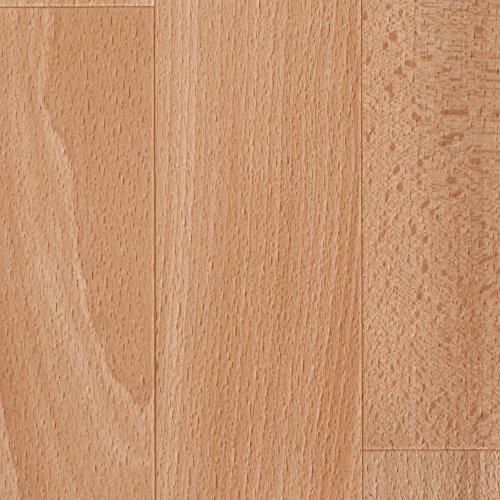 BODENMEISTER PVC CV Vinyl Bodenbelag Auslegware Holzoptik Buche hell Schiffsboden 200, 300 und 400 cm breit, verschiedene Längen