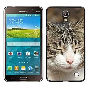 TopCaseStore / la caja del caucho duro de la cubierta de protección de la piel - American Shorthair British House Cat - Samsung Galaxy Mega 2