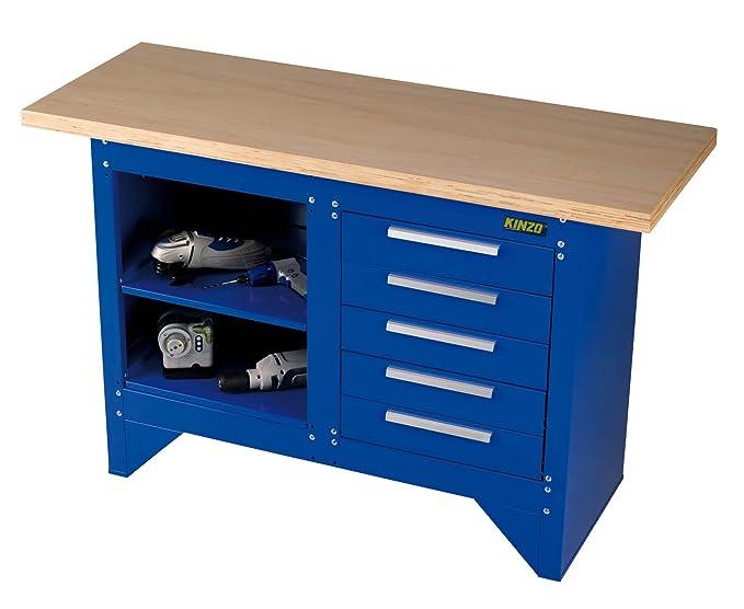 Banco de trabajo de la mesa banco de carpintero kinzo azul: Amazon ...