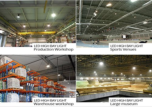 GENPAR 240W UFO LED High Bay Light 800W HPS/MH Equivalent 26000LM lumens Daylight White 6000-6500K IP65 Waterproof Warehouse Lighting Fixture Commercial Lighting Factory Shop Industrial Garage (2-PK) by GENPAR (Image #4)