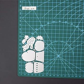 zmigrapdn DIY Troqueles de Corte, Dibujos Animados Cactus Metal Troqueles DIY Scrapbooking Tarjetas de Papel Repujado decoración Metal Plantilla Molde ...