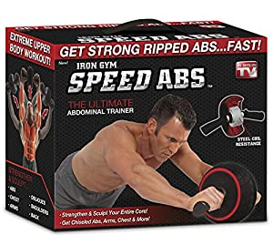 Speed Abs Complete Ab Workout System by Iron Gym, Abdominal Roller Wheel from ONTEL PRODUCTS