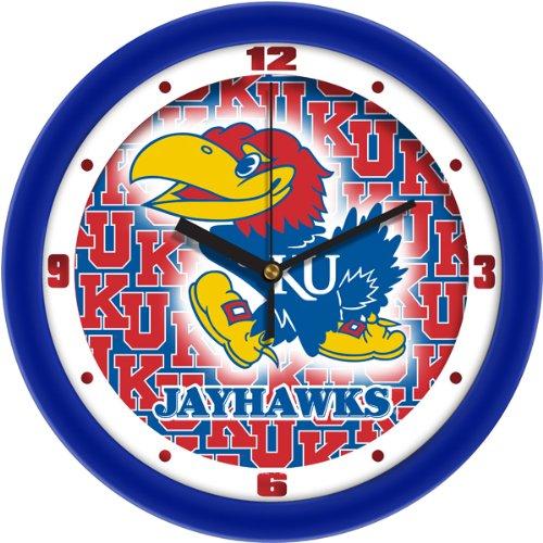 Round Jayhawks Kansas Crystal - SunTime Kansas Jayhawk - Dimension Wall Clock