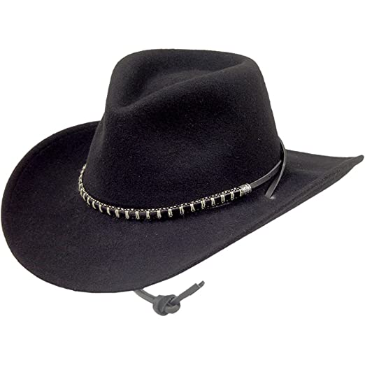 55520e9e8bf Stetson Black Foot Crushable Hat at Amazon Men s Clothing store