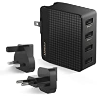 PISEN 20W 4-Port USB Travel Wall Charger (Black)