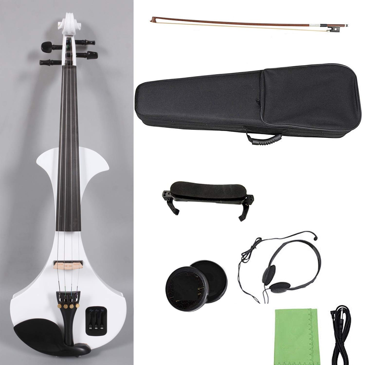 Yinfente 4/4 Electric Violin Professional Violin Big Small Jack Support Mp3 Background by yinfente