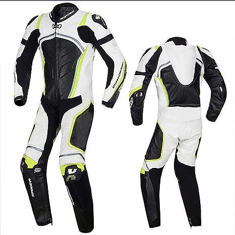 HXA 1 Piezas Traje de Cuero Chaqueta de Moto Pantalones ...