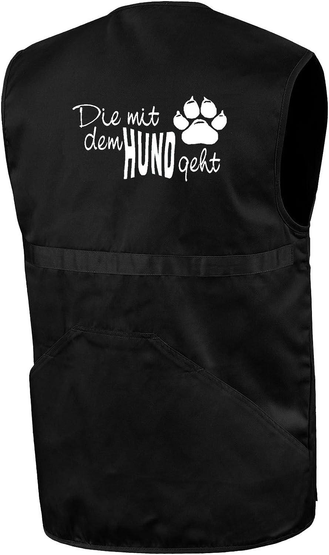 Trainingsweste Bimaxx/® Hundesportweste Die mit dem Hund geht Weste Gassigeher