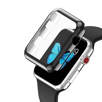 brand new baf3e 0d896 Tuscom Ultra-Slim Electroplate PC Hard Case Cover Skin For Apple Watch  Series 3 42mm, (Black)