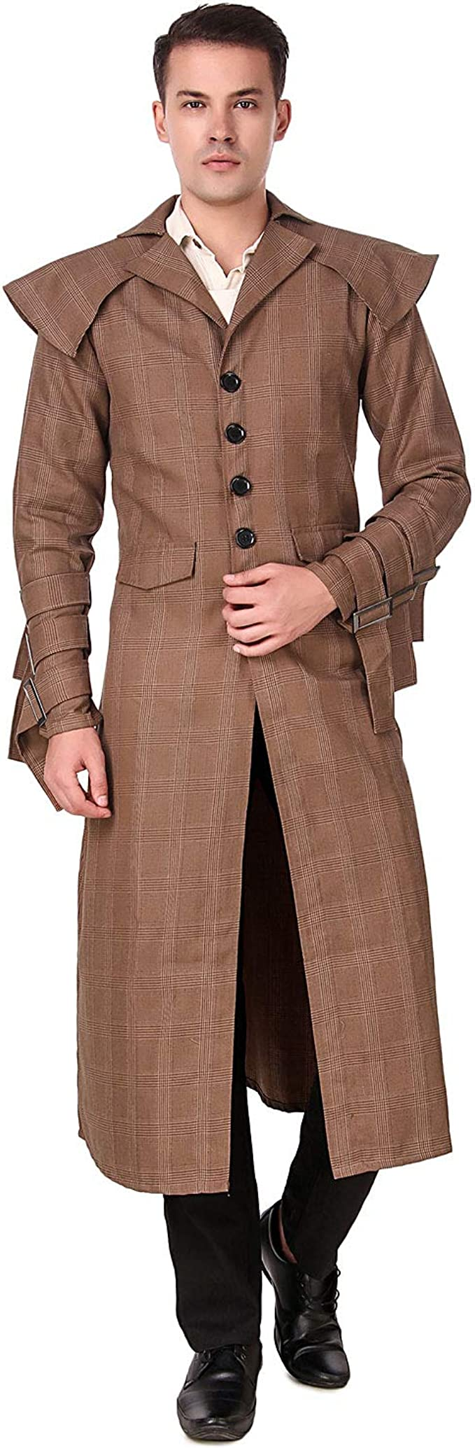 Men's Steampunk Jackets, Coats & Suits ThePirateDressing Steampunk Victorian Pirate Gothic Cosplay Mens Costume Coat Jacket $119.99 AT vintagedancer.com