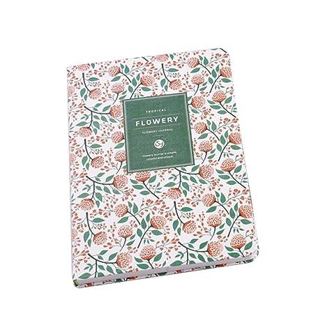 Tonver Petit frais Floral personnalité ordinateurs portables Journal Organiseur bloc-notes classeur à anneaux Agenda ordinateur portable étudiant ...