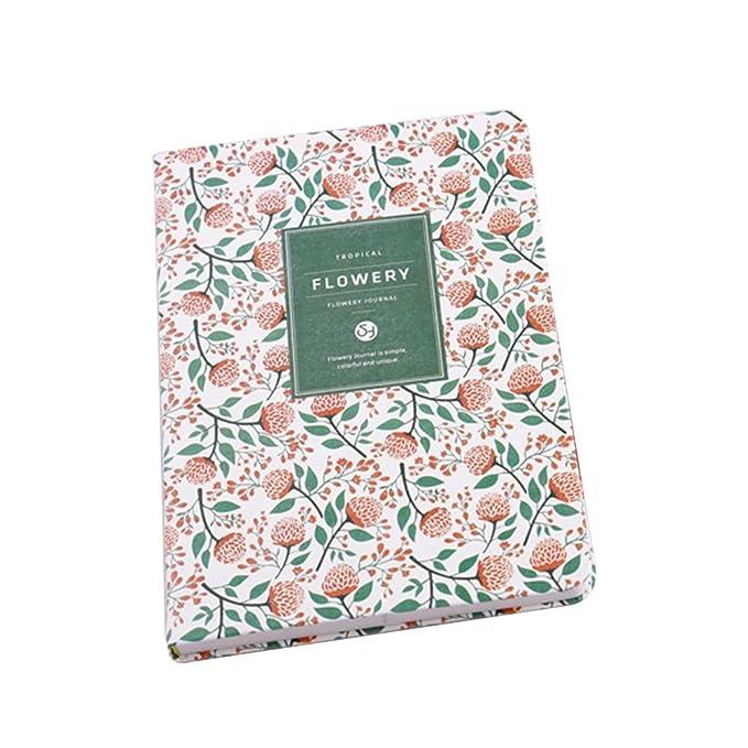 TONVER - Cuaderno pequeño de personalidad floral fresca, organizador de diario, cuaderno de anillas, cuaderno de notas para estudiantes, artículos de ...
