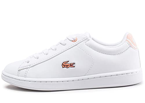 539a69f59 Lacoste Girls Children Girls Carnaby 218 Evo Trainers in White - 10 Child