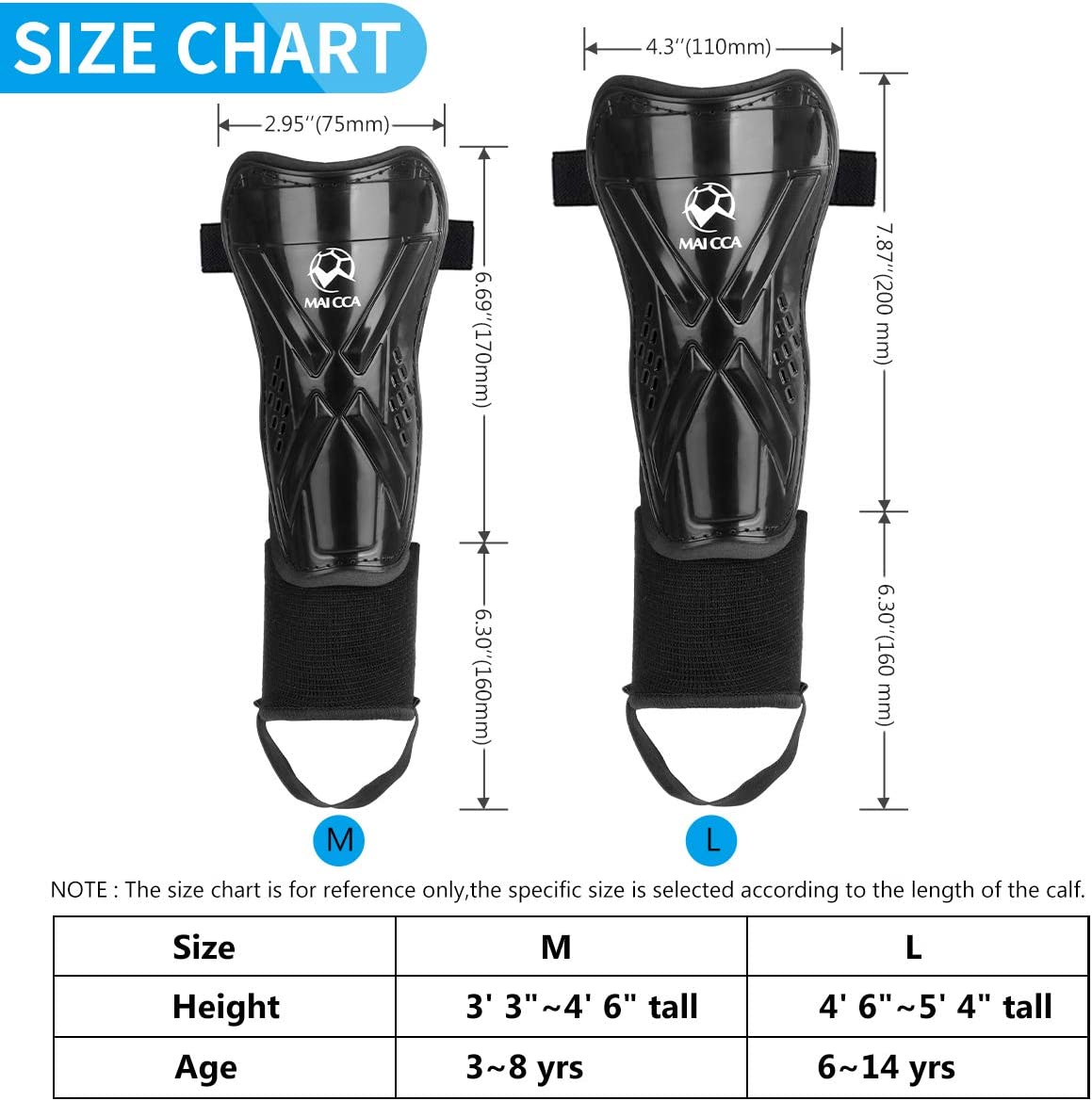 Outfun Youth Soccer Shin Guards, Kids Soccer Shin Pads, Child Calf Protective Gear, Soccer Equipment with Ankle Sleeves for 3-14 Years Old Boys Girls Toddler Kids Teenagers : Sports & Outdoors