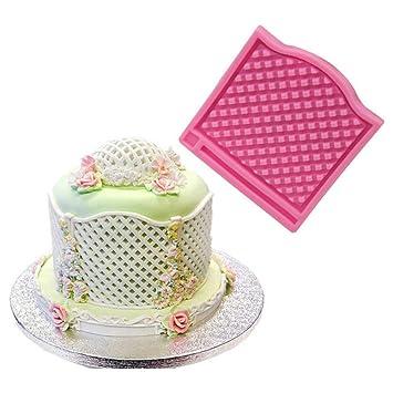 Modelo de pastel Diy rejilla de textura almohadilla cojines de silicona para la torta de chocolate