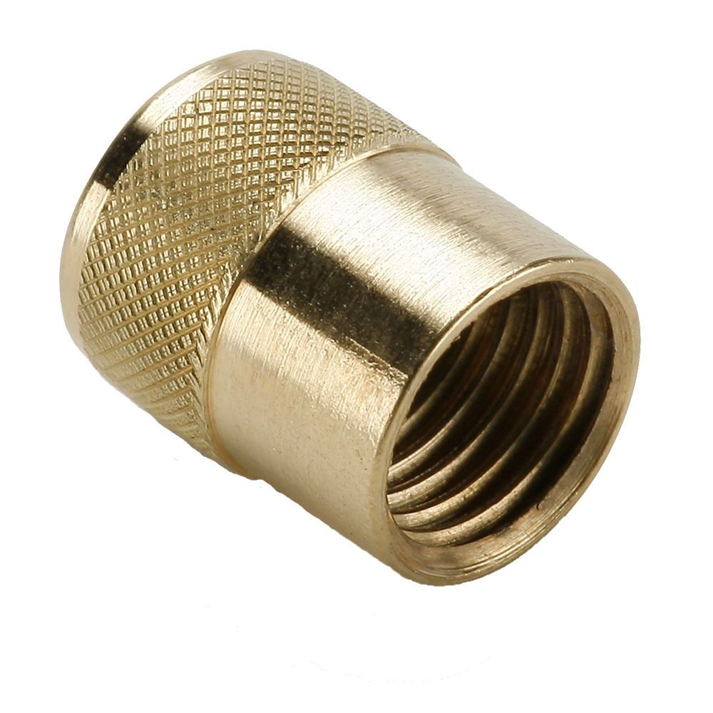 Brass 3//8 Flare Cap Pack of 5 Parker 640QSF-6-pk5 Refrigeration Access Valve SAE Male Flare Quick Seal Cap