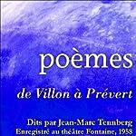 Poésies lues par Jean-Marc Tennberg | Guillaume Apollinaire,Alphonse Daudet,Paul Verlaine,Victor Hugo, 16 autres auteurs