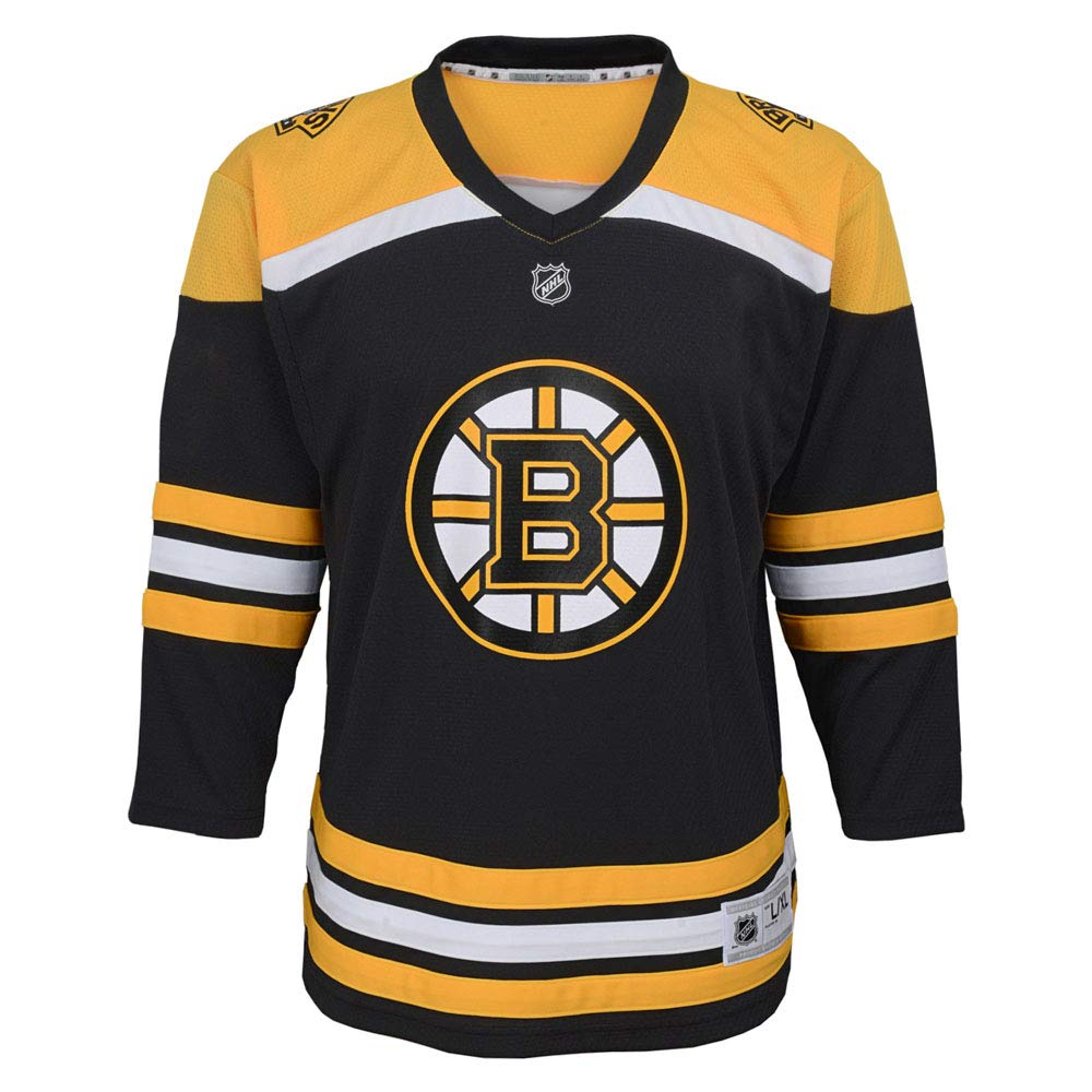 Imprinted OuterStuff Custom Boston Bruins Youth Hockey Jersey