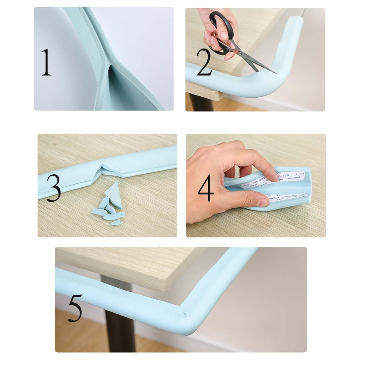 Ancdream 2M U-Shaped Thicken Baby Safety Table Edge Corner Protector Guard Cushion Anti-collision Bumper Strip