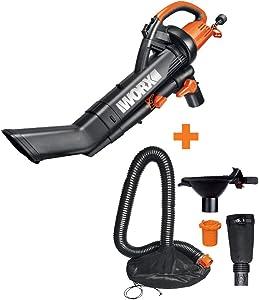 WORX WG505 3-in-1 Blower/Mulcher/Vacuum w/Universal Leaf Collection System