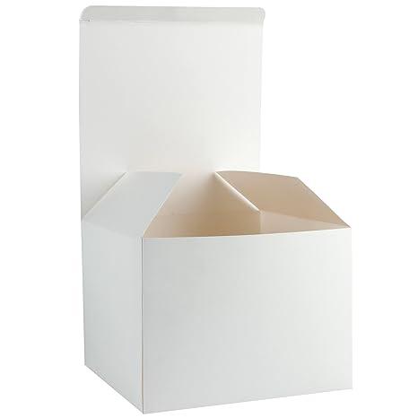RUSPEPA 10 Pack 20.5 X 20.5 X 15.5Cm Cajas De Regalo De Cartón Reciclado,