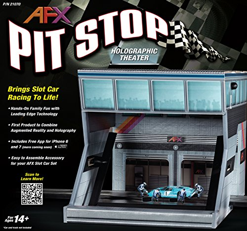 AFX/Racemasters Pit Stop - Holographic Theater, - Track Pit Slot Car
