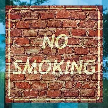 24x24 5-Pack CGSignLab Ghost Aged Brick Window Cling No Smoking