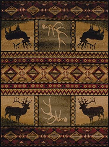 United Weavers of America Affinity Collection Hunter s Dream Rug – 1 ft. 10in. x 7ft. 2in., Brown, Decorative Rug, Lodge Style, Modern Indoor Rug